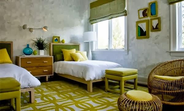 Desain Kamar Tidur Warna Hijau Cerah | Rumah Idaman
