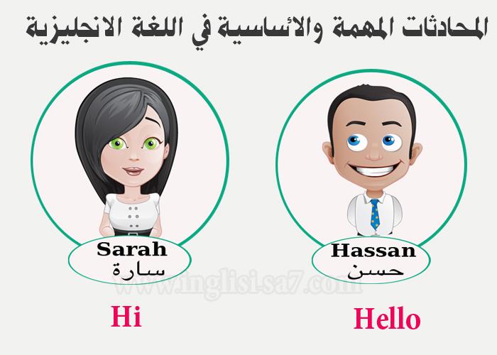 المحادثات المهمة والاساسية في اللغة الانجليزية -المحادثة الاولى pdf