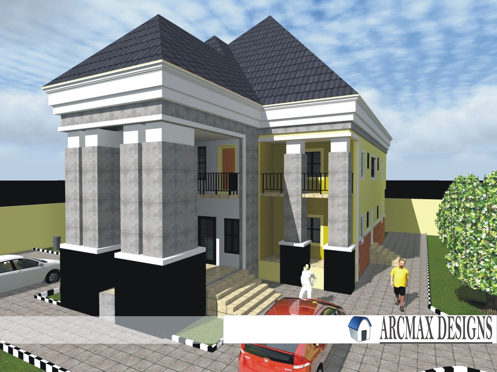 Arcmax Plan Of Five Bedroom Duplex And Image