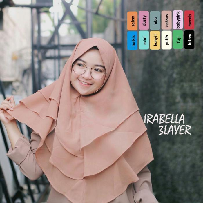 Grosir Hijab Kerudung Irabella Edisi 3 Layer Instan