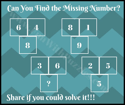 Easy math picture puzzle brain teaser