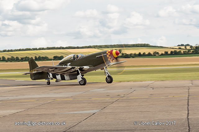 P51 Mustang Taxing at Duxford
