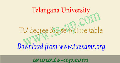TU degree 3rd sem time table 2018-2019, 2nd year Results