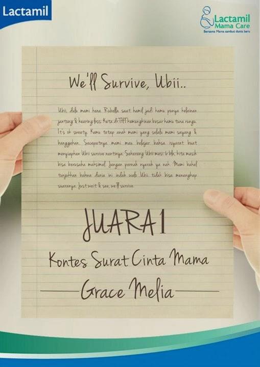 Juara I Surat Cinta Mama Lactamil Mamacare Gracemelia Com Parenting Blogger Indonesia