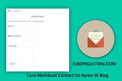 Cara membuat contact us keren di blog
