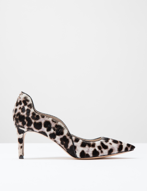 Snow leopard wave mid court shoe, £100, Boden