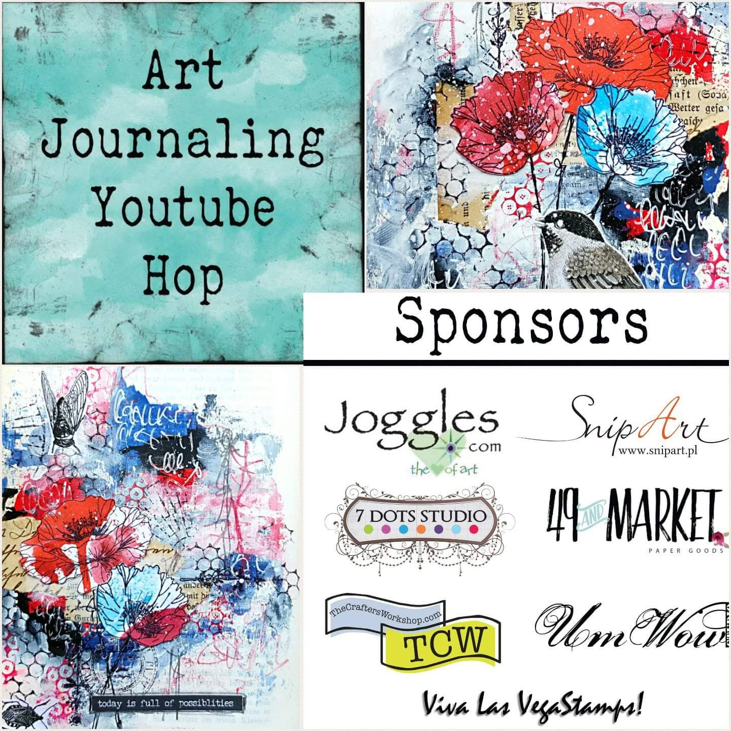 Art Journaling YouTube Hop