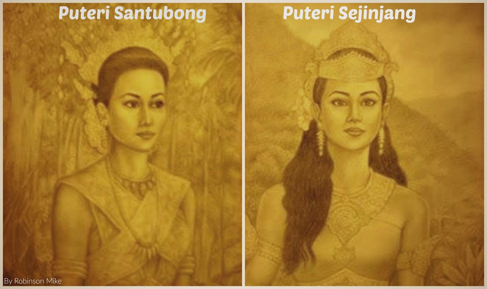 Gambaran Puteri Santubong & Puteri Sejinjang