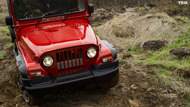 Mahindra Thar Red Colour Image