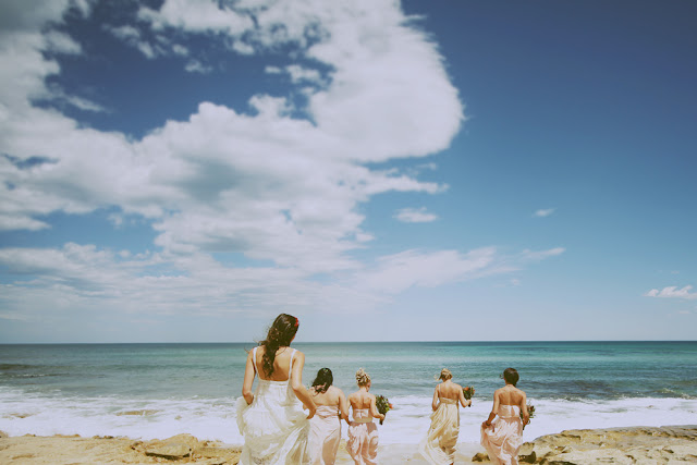 vintage inspired beach wedding great ocean road