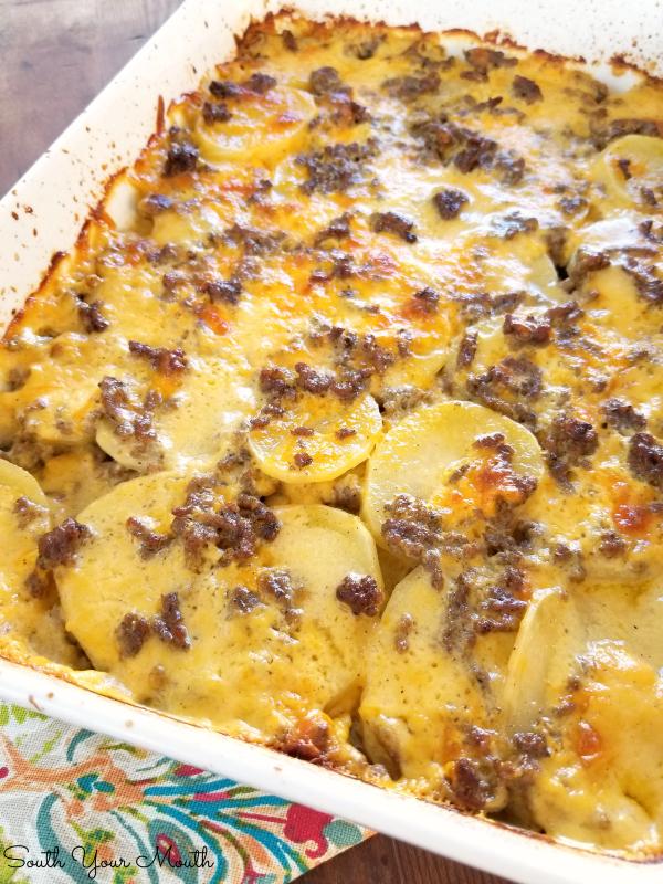 South Your Mouth Hamburger Potato Casserole