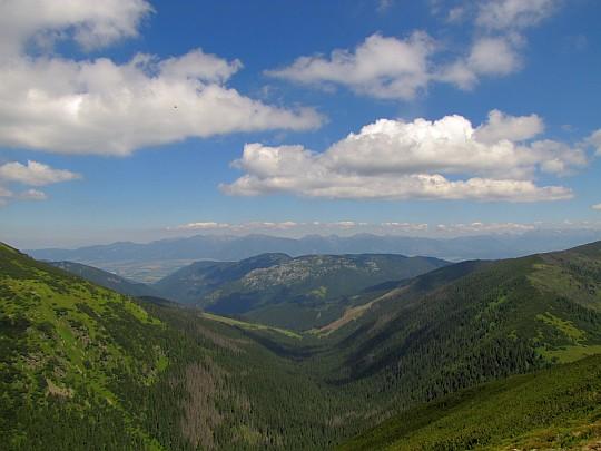 Widok na Tatry z Králički.