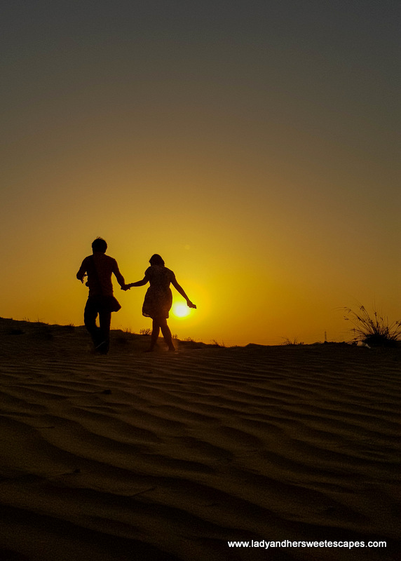 Ed and Lady in the desert