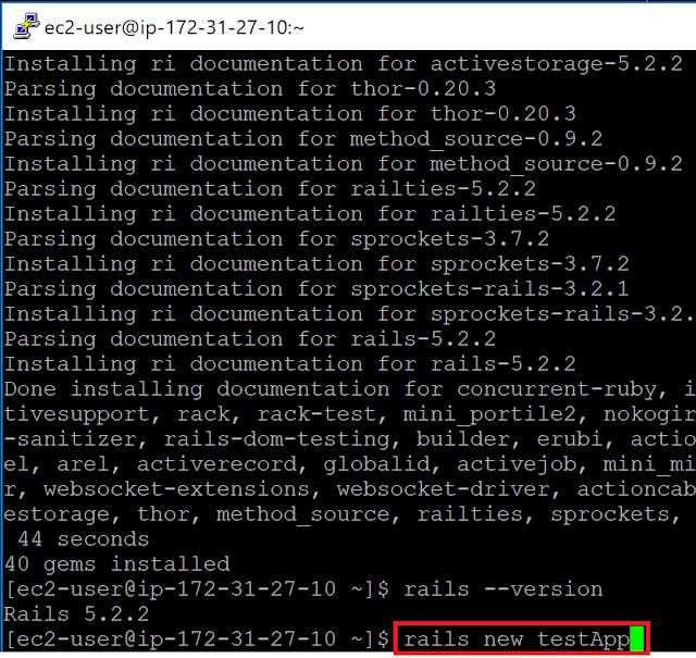 Amazon Linux 2でのRuby on Railsアプリケーション作成