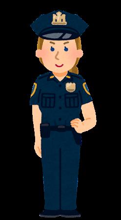アメリカの警察官のイラスト(女性)