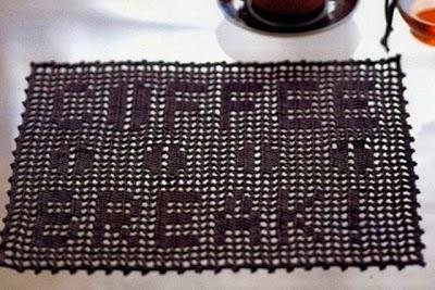 Tapete de Merienda de Crochet con Abecedario Patron
