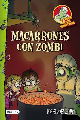 """Libros de Fantasía para niños: """"Macarrones con zombi"""" de JA Martín Piñol"""