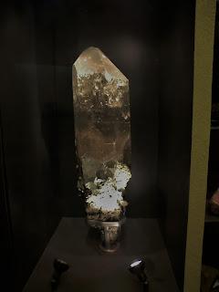 Enorme cuarzo suizo, Museo Historia Natural de Londres