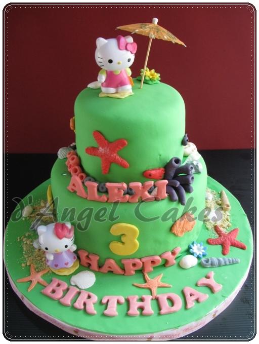 9d9067251 d'Angel Cakes: Hello Kitty Beach Theme Cake