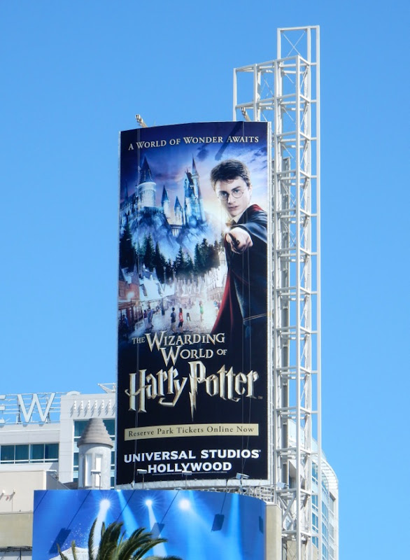 Wizarding World Harry Potter Universal Studios Hollywood billboard