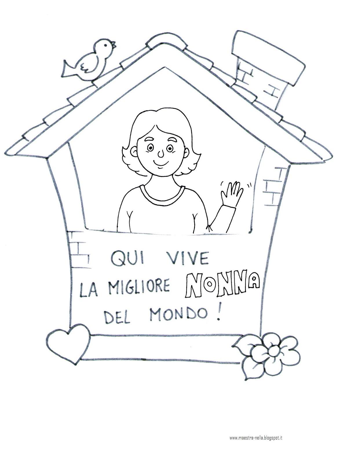 Favorito maestra Nella: Festa dei nonni: quadretto da appendere! YU83