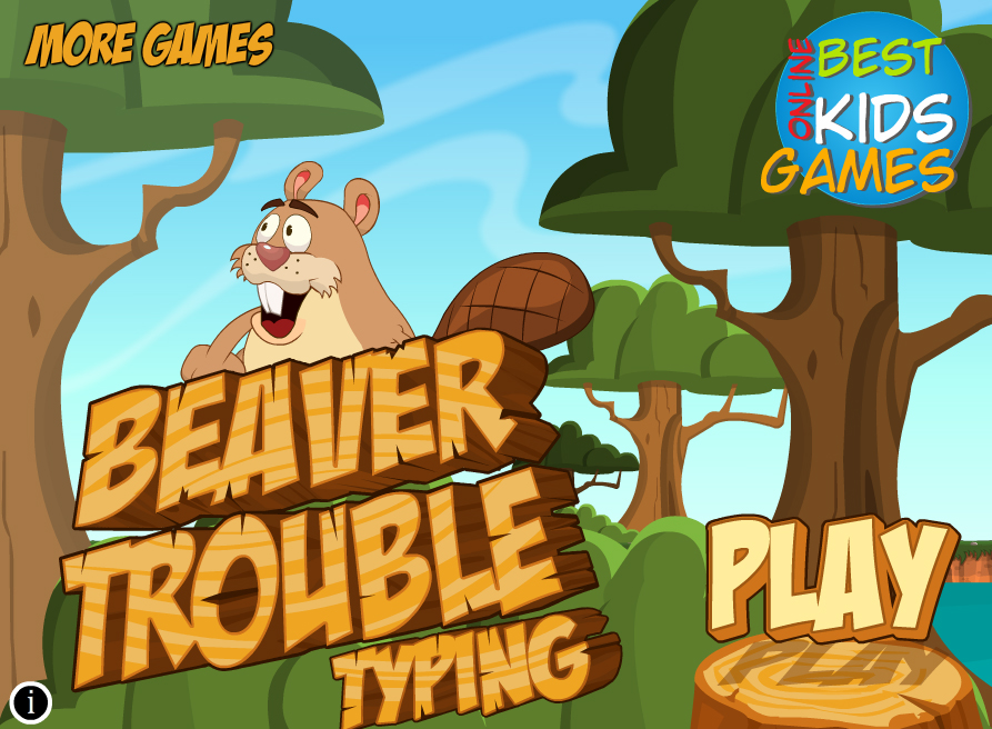 Free Kids Games Beaver Trouble Typing Game Save The Baby