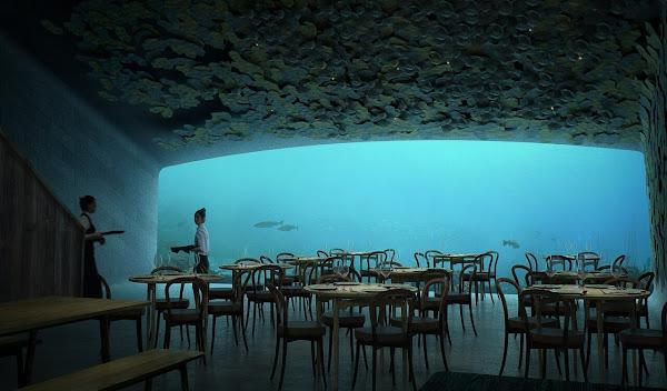 Restaurante bajo el agua - Las Mejores Ideas de Negocios e Innovaciones del Año
