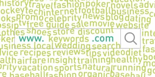 menggunakan kata kunci di dalam nama domain