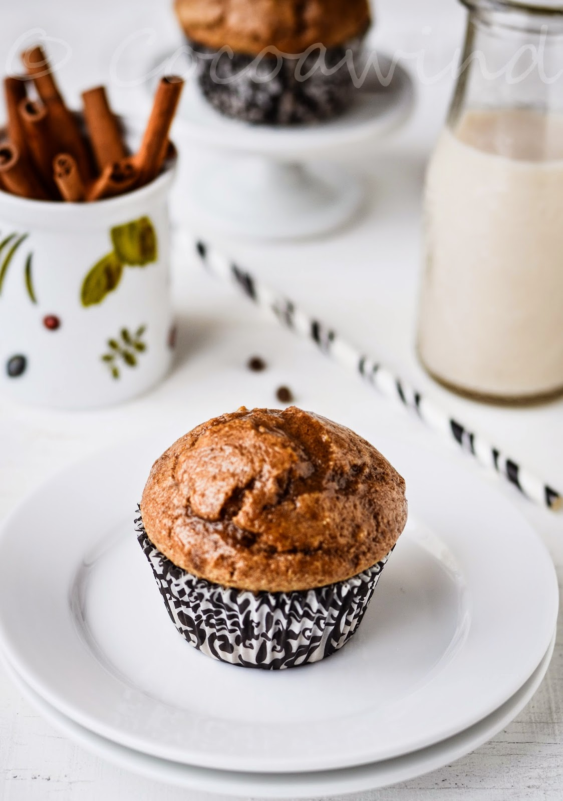 Chai Spice Glazed Muffins - Wholewheat & Eggless
