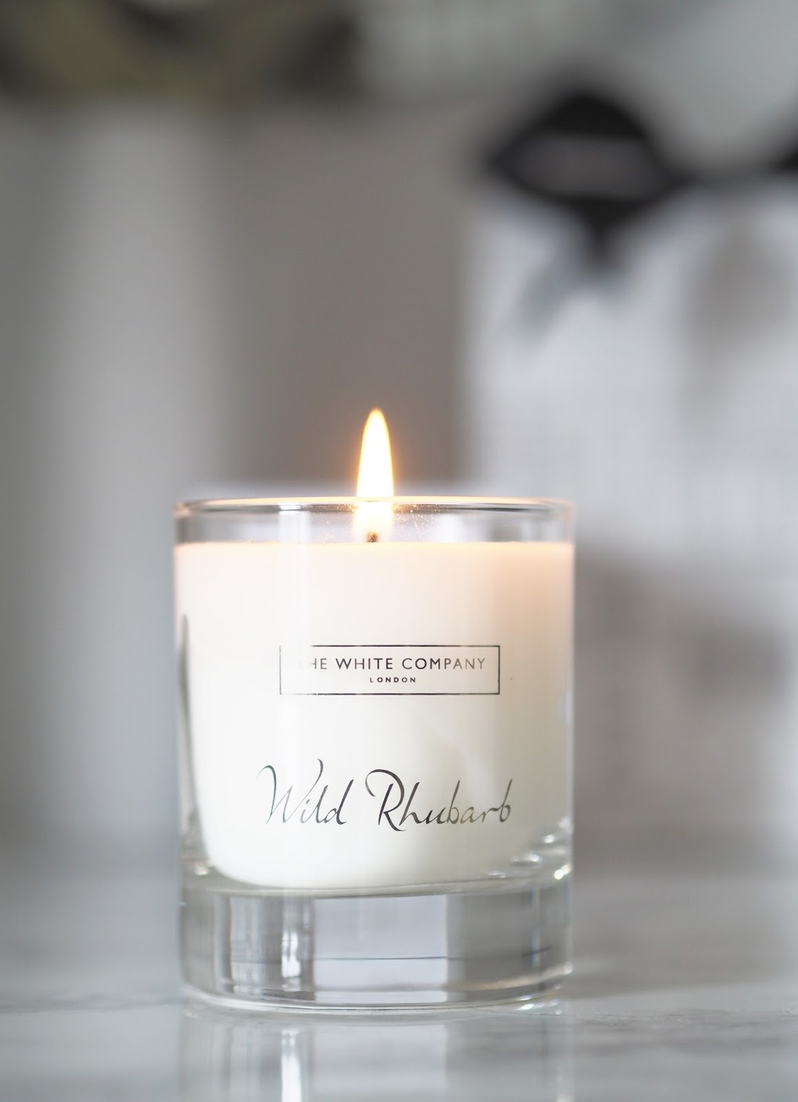 The White Company \ wild rhubarb candle \ review \ home \ home fragrance \ scent \ limited edition \ Priceless Life of Mine \ Over 40 lifestyle blog