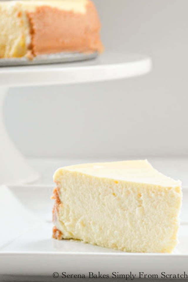 Creamy Lemon Cheesecake recipe is family favorite for Thanksgiving and Christmas from Serena Bakes Simply From Scratch.
