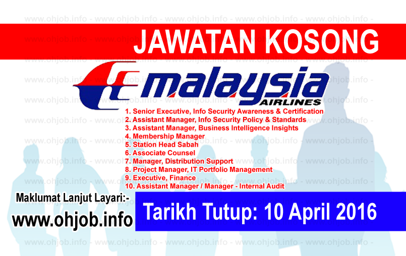 Jawatan Kerja Kosong Malaysia Airlines Berhad logo www.ohjob.info april 2016