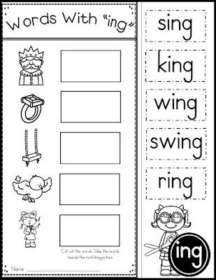 Free printable worksheets on rhyme words matching