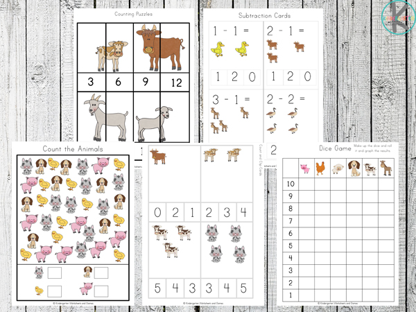 math FREE Farm Printables