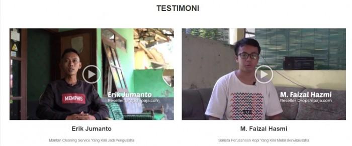 Testimoni - Pengusaha Reseller DropshipAja yang Sukses