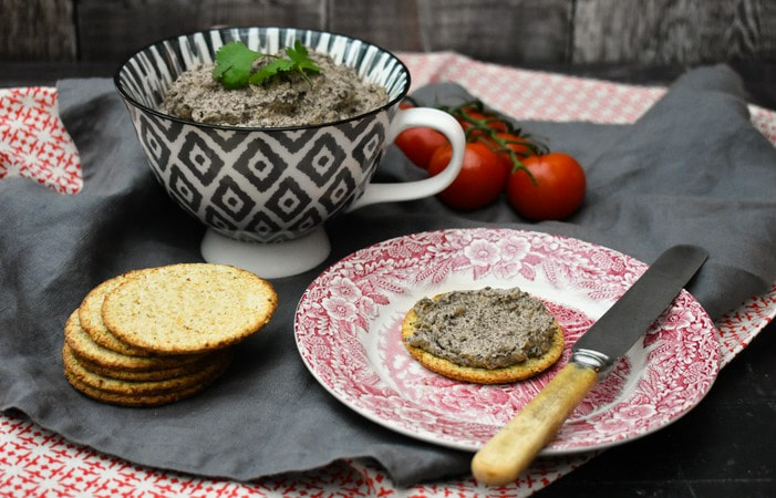 Easy Mushroom and Chestnut Pâté with oatcakes