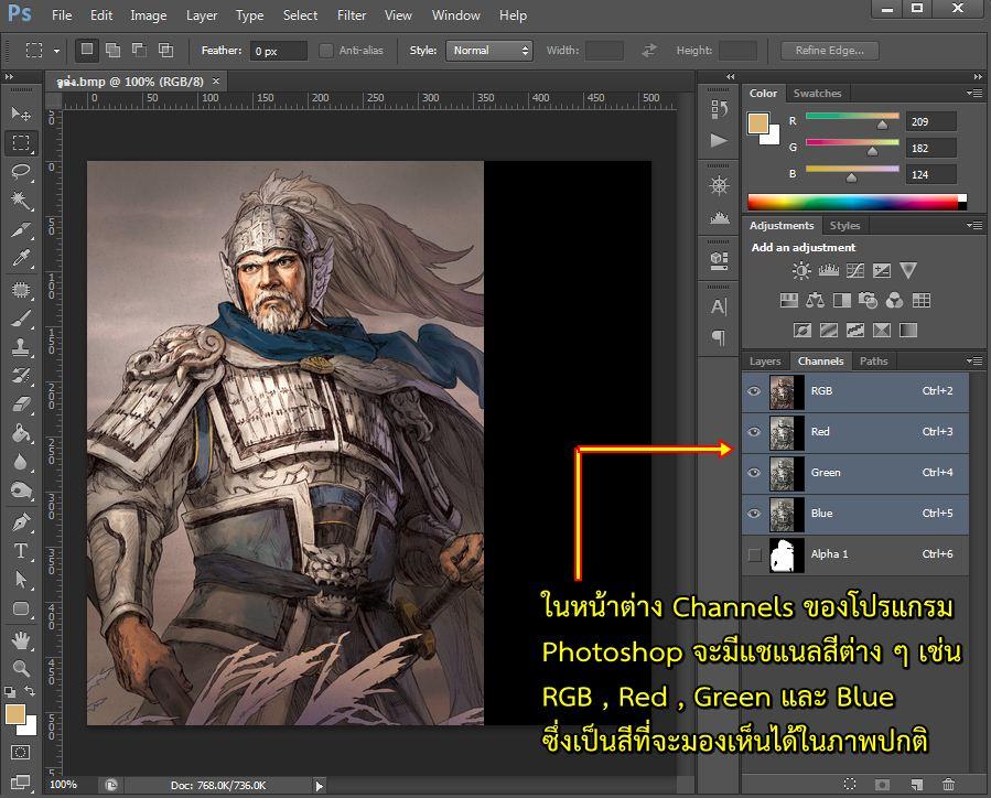 การแก้ไขภาพโดยใช้โปรแกรม Adobe Photoshop
