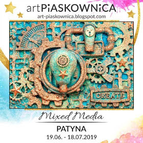 Art piaskownica Mixed Media- efekt patyny