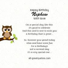 Happy Birthday wishes for nephew: happy birthday nephew with love