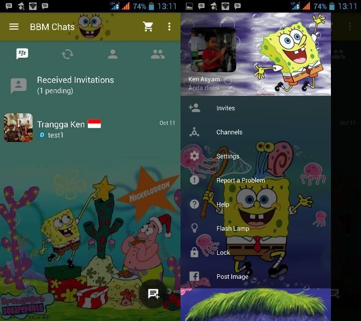 MOD BBM v2.10.0.31 Clone - Spongebob