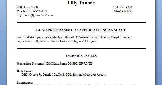applications analyst resume format in word free download