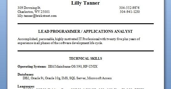 sample informatica fresher resume formats