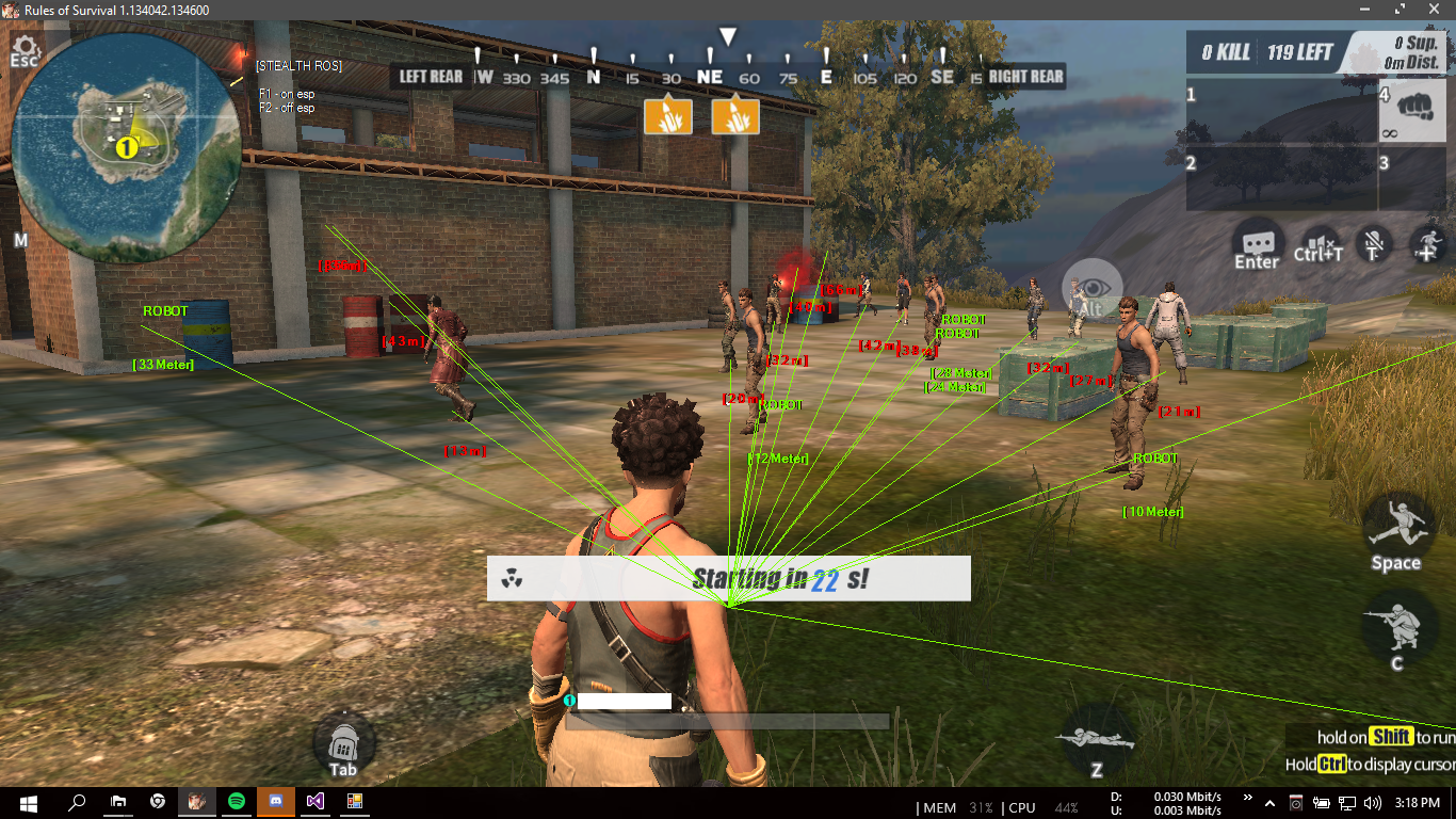 rules of survival pc wallhack 2018 download