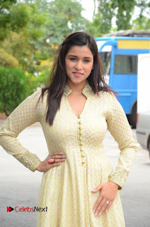 Actress Mannara Chopara Pictures in Long Dress at Thikka First Look Launch 0019