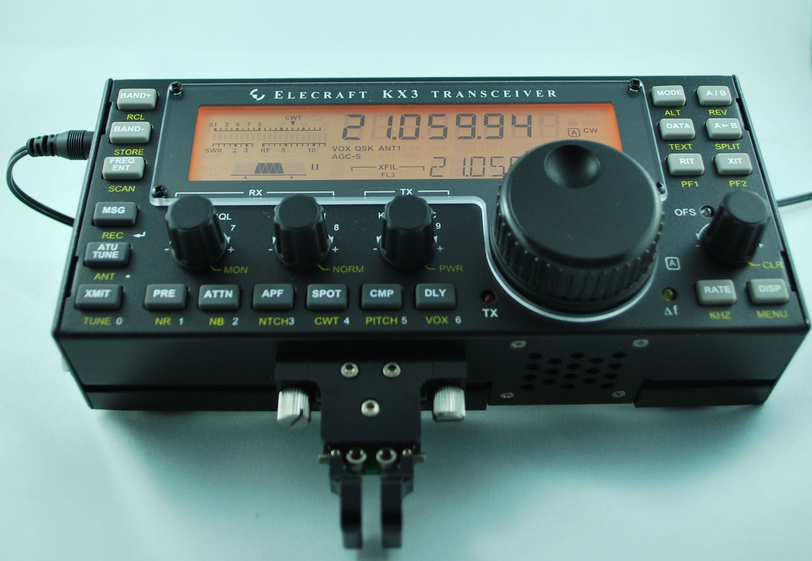 Elecraft KX3   stand, CW key and battery charger