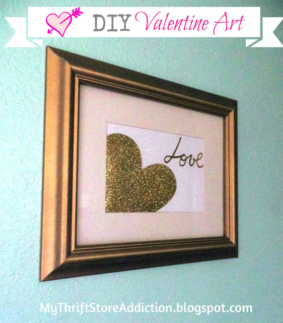 DIY $1 valentine art