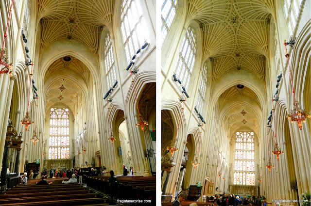Decoração interna da Abadia de Bath