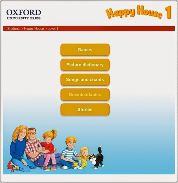 """Happy House, Nivel 1"" (Aplicación interactiva de Inglés de 1º de Primaria). Editorial Oxford."