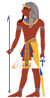 A typical depiction of a pharaoh.