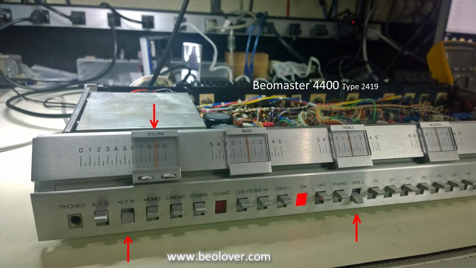 Bang & olufsen b & o beomaster 4400 type 2417 a2460 service manual.